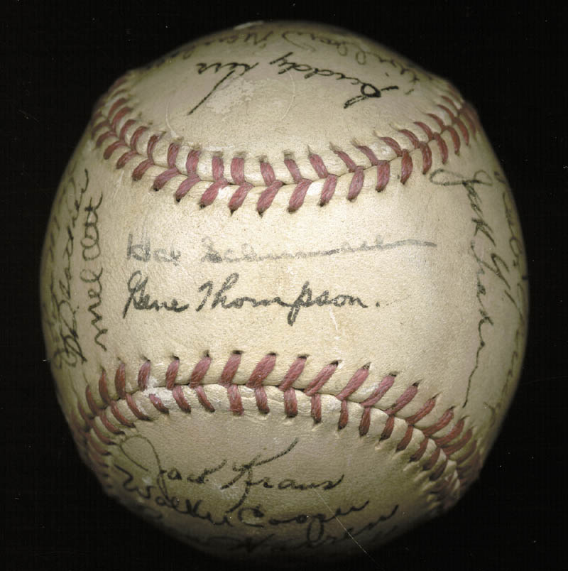 Image 3 for The New York Giants - Autographed Signed Baseball Circa 1946 with co-signers - HFSID 147755
