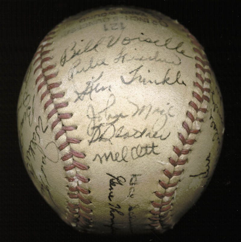 Image 4 for The New York Giants - Autographed Signed Baseball Circa 1946 with co-signers - HFSID 147755