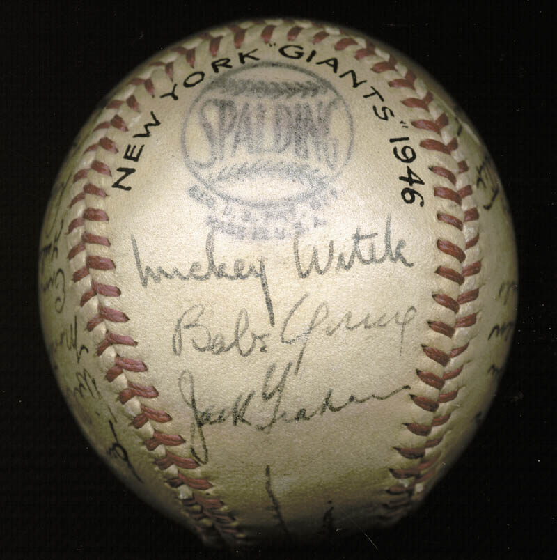 Image 5 for The New York Giants - Autographed Signed Baseball Circa 1946 with co-signers - HFSID 147755