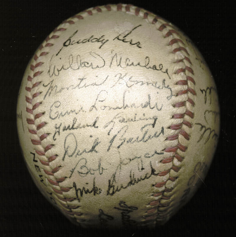 Image 7 for The New York Giants - Autographed Signed Baseball Circa 1946 with co-signers - HFSID 147755