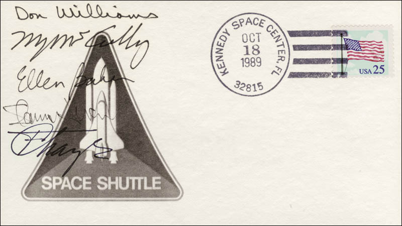 Image 1 for Captain Donald E. Williams - Commemorative Envelope Signed with co-signers - HFSID 148246