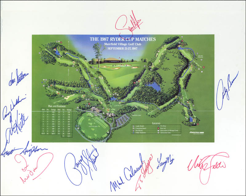 Image 1 for The Ryder Cup - Photograph Mount Signed with co-signers - HFSID 148299