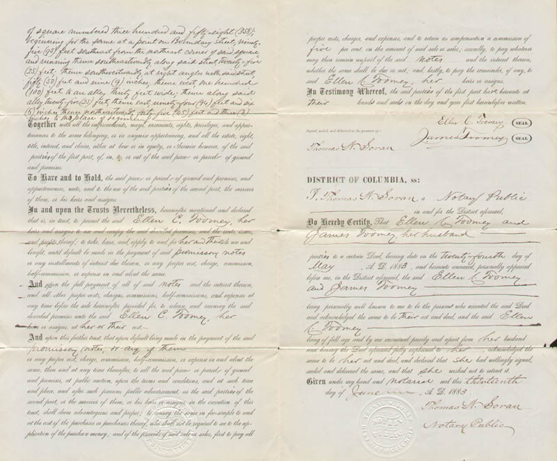 Image 4 for Frederick Douglass - Deed Signed 07/24/1883 - HFSID 148407