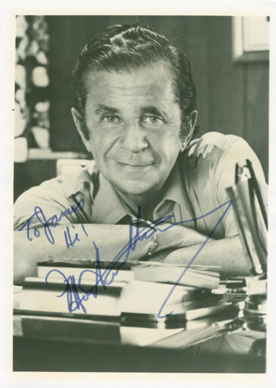 Image 1 for Morey Amsterdam - Autographed Inscribed Photograph - HFSID 148522