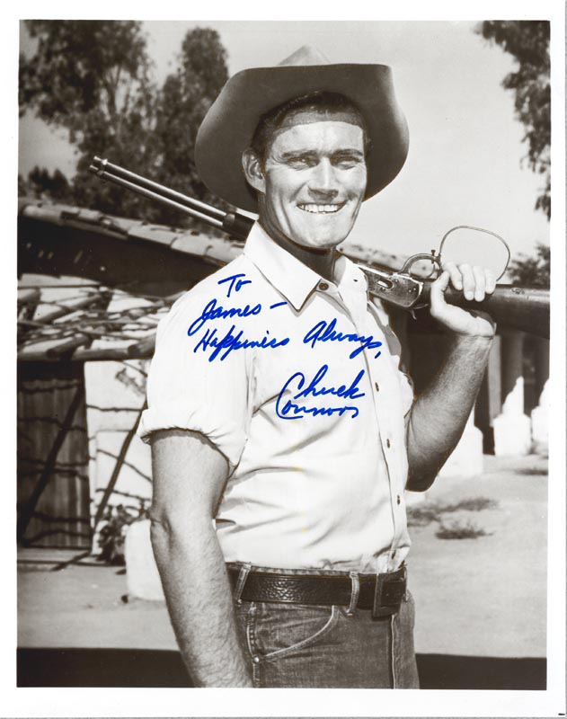 Image 1 for Chuck Connors - Autographed Inscribed Photograph - HFSID 148530