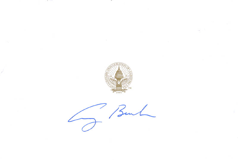 Image 1 for President George H.W. Bush - Autograph - HFSID 148764