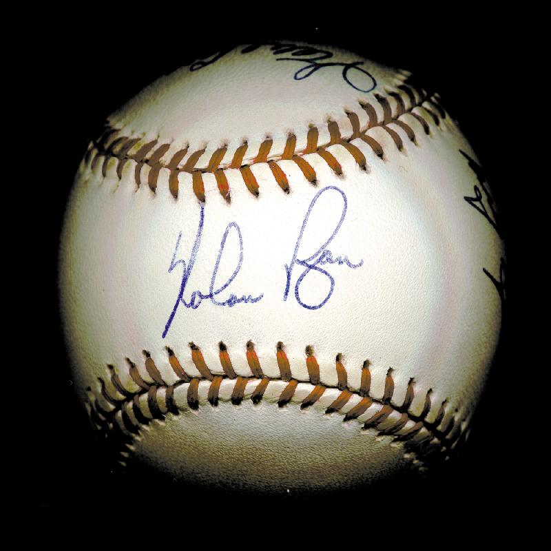 Image 3 for 300+ Career Wins - Autographed Signed Baseball with co-signers - HFSID 148777