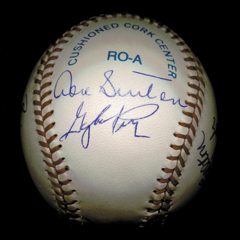 Image 4 for 300+ Career Wins - Autographed Signed Baseball with co-signers - HFSID 148777