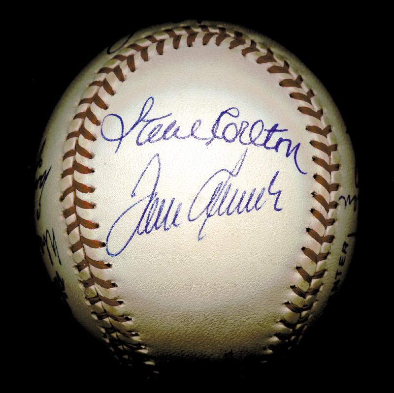 Image 5 for 300+ Career Wins - Autographed Signed Baseball with co-signers - HFSID 148777