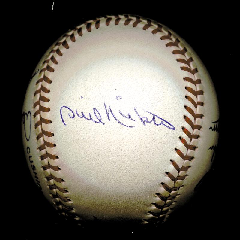Image 6 for 300+ Career Wins - Autographed Signed Baseball with co-signers - HFSID 148777
