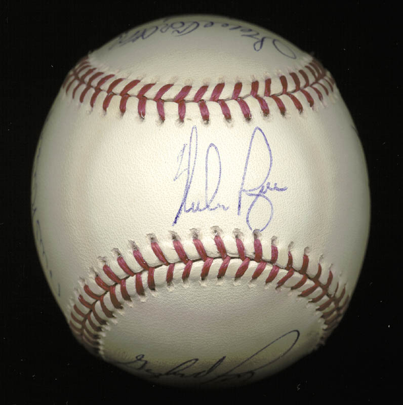 Image 1 for 300+ Career Wins - Autographed Signed Baseball with co-signers - HFSID 148783