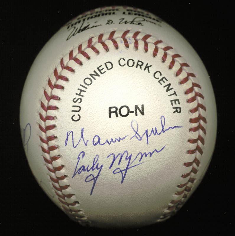 Image 3 for 300+ Career Wins - Autographed Signed Baseball with co-signers - HFSID 148783