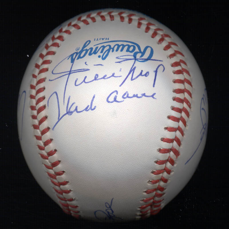 Image 3 for 3000+ Career Hits - Autographed Signed Baseball with co-signers - HFSID 148785