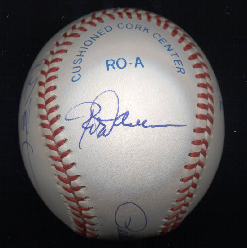 Image 4 for 3000+ Career Hits - Autographed Signed Baseball with co-signers - HFSID 148785