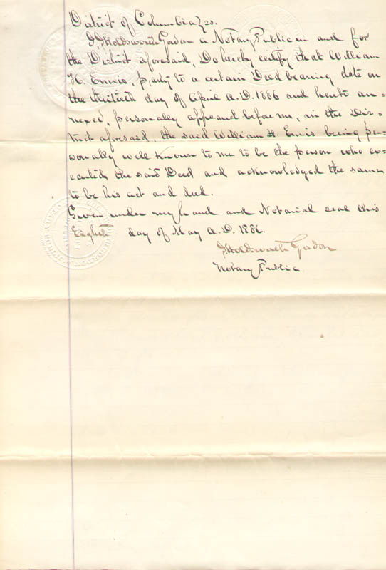 Image 8 for Frederick Douglass - Deed Signed 05/29/1886 - HFSID 150655