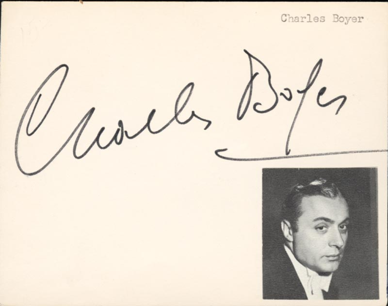 Image 1 for Charles Boyer - Autograph - HFSID 151