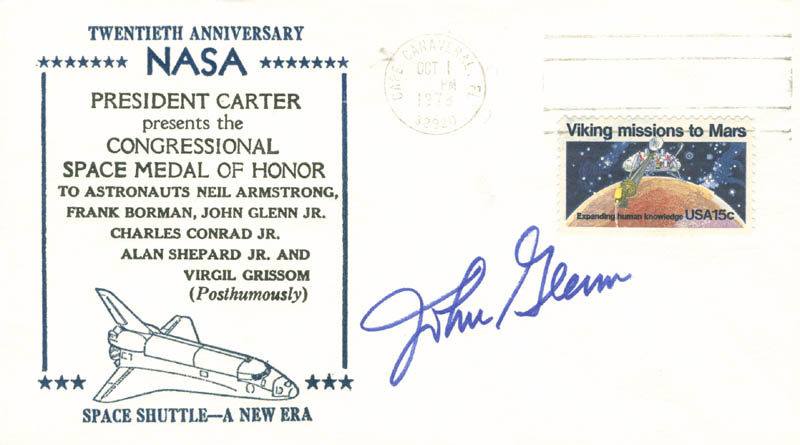 Image 1 for John Glenn - Commemorative Envelope Signed - HFSID 152085