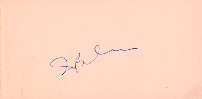 Image 1 for Irving Berlin - Autograph co-signed by: Yvonne De Carlo - HFSID 152144