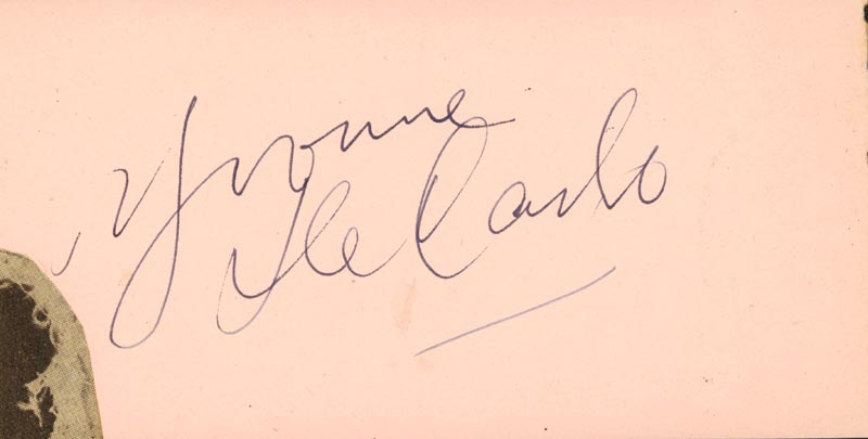 Image 3 for Irving Berlin - Autograph co-signed by: Yvonne De Carlo - HFSID 152144
