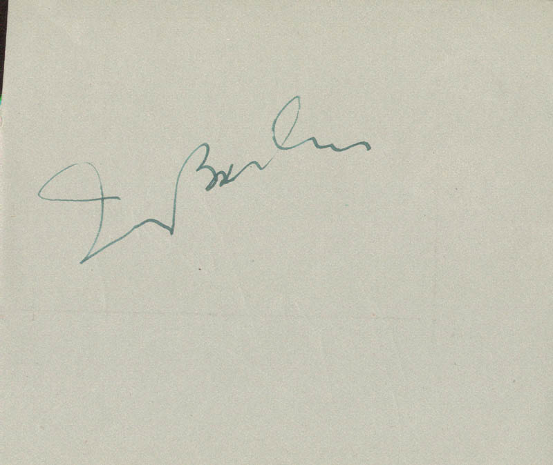 Image 1 for Irving Berlin - Autograph co-signed by: Roger Livesey - HFSID 152145
