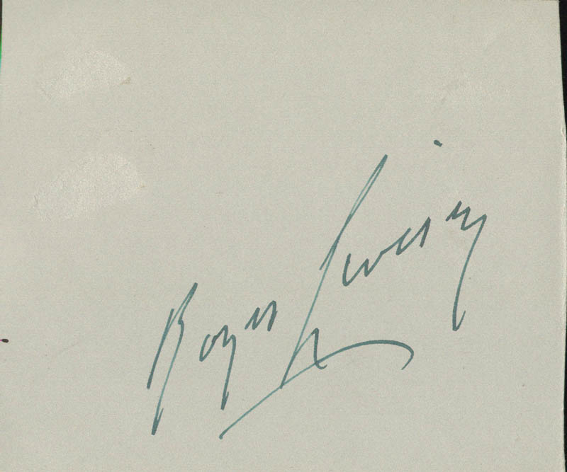 Image 3 for Irving Berlin - Autograph co-signed by: Roger Livesey - HFSID 152145