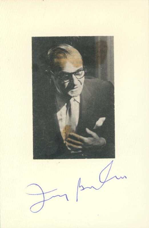 Image 1 for Irving Berlin - Photograph Mount Signed - HFSID 152150