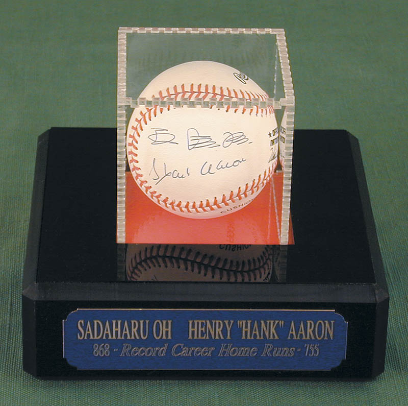 Image 1 for Sadaharu Oh - Autographed Signed Baseball co-signed by: Hank Aaron - HFSID 152245
