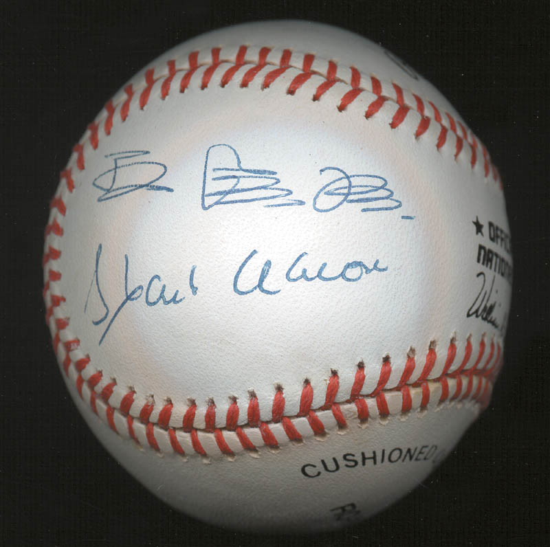 Image 3 for Sadaharu Oh - Autographed Signed Baseball co-signed by: Hank Aaron - HFSID 152245