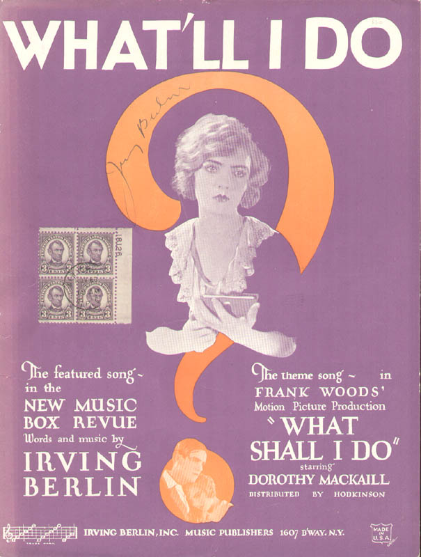 Image 1 for Irving Berlin - Sheet Music Signed - HFSID 152508