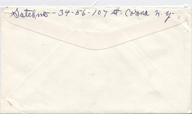 Image 1 for Louis 'Satchmo' Armstrong - Autograph Envelope Signed 08/21/1968 - HFSID 152618