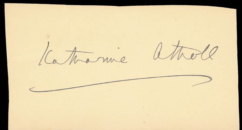 Image 1 for Katharine Marjory (Duchess Of Atholl) Stewart-murray - Autograph - HFSID 152628