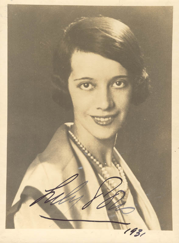 Image 1 for Lily Pons - Autographed Signed Photograph 1931 - HFSID 152642