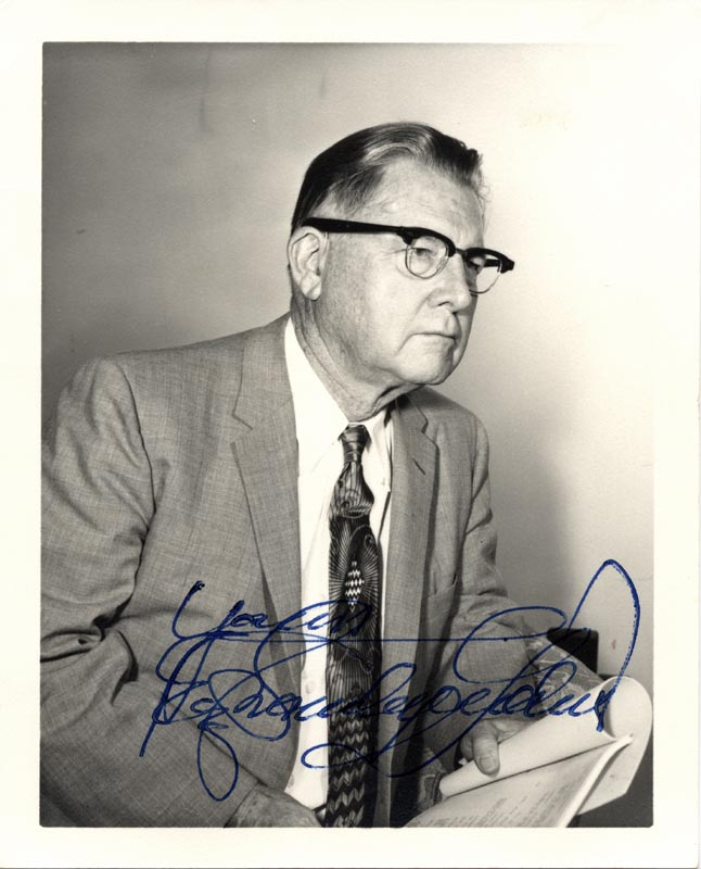 Image 1 for Erle Stanley Gardner - Autographed Signed Photograph - HFSID 152647