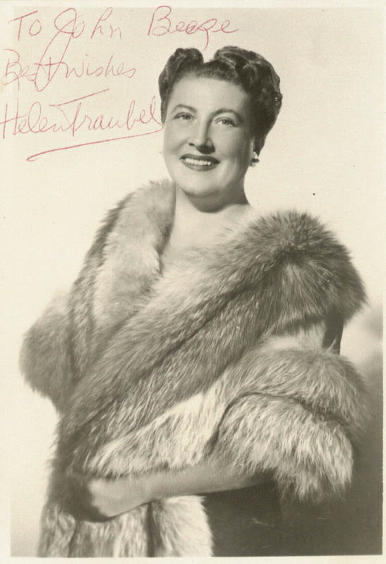 Image 1 for Helen Traubel - Autographed Inscribed Photograph - HFSID 152660