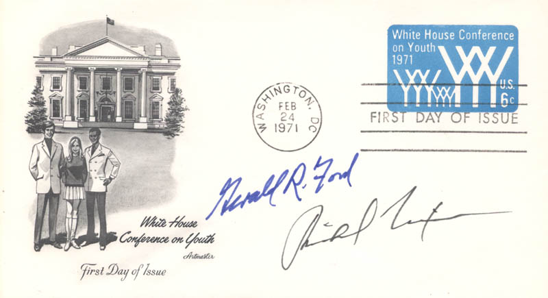 Image 1 for President Richard M. Nixon - First Day Cover Signed co-signed by: President Gerald R. Ford - HFSID 153341