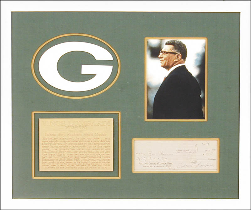 Image 1 for Vince Lombardi - Autographed Signed Check 12/06/1959 - HFSID 153392