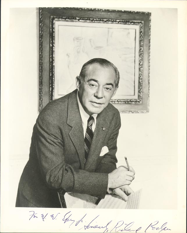 Image 1 for Richard Rodgers - Autographed Inscribed Photograph - HFSID 153531