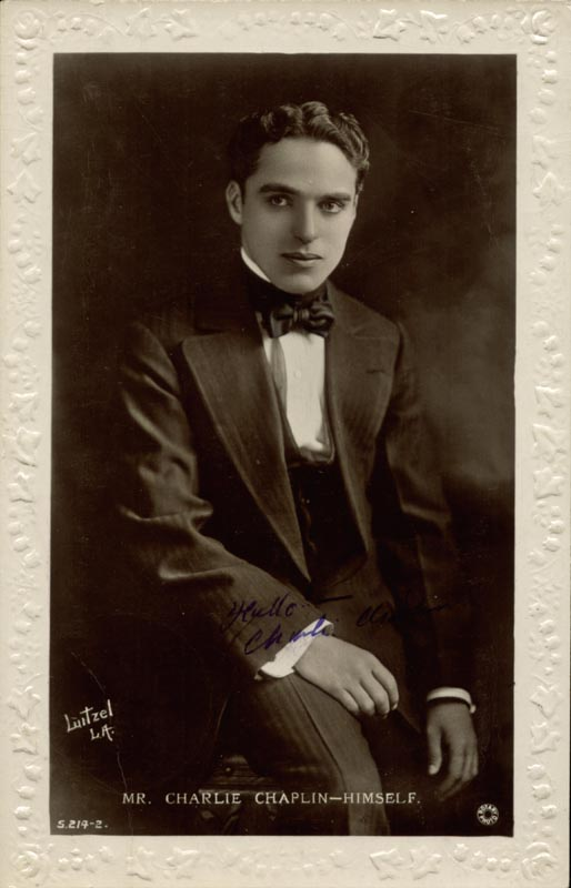 Image 1 for Charlie 'The Little Tramp' Chaplin - Picture Post Card Signed - HFSID 153576