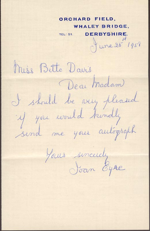 Image 3 for Bette Davis - Inscribed Signature - HFSID 153585