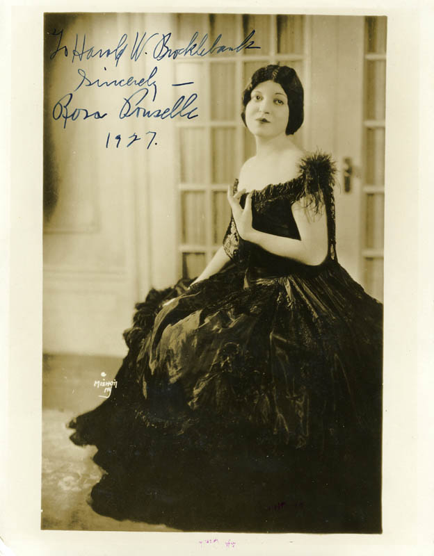 Image 1 for Rosa Ponselle - Autographed Inscribed Photograph 1927 - HFSID 153682