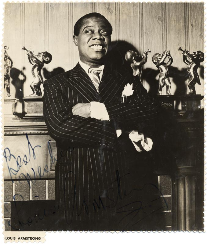 Image 1 for Louis 'Satchmo' Armstrong - Magazine Photograph Signed - HFSID 153689