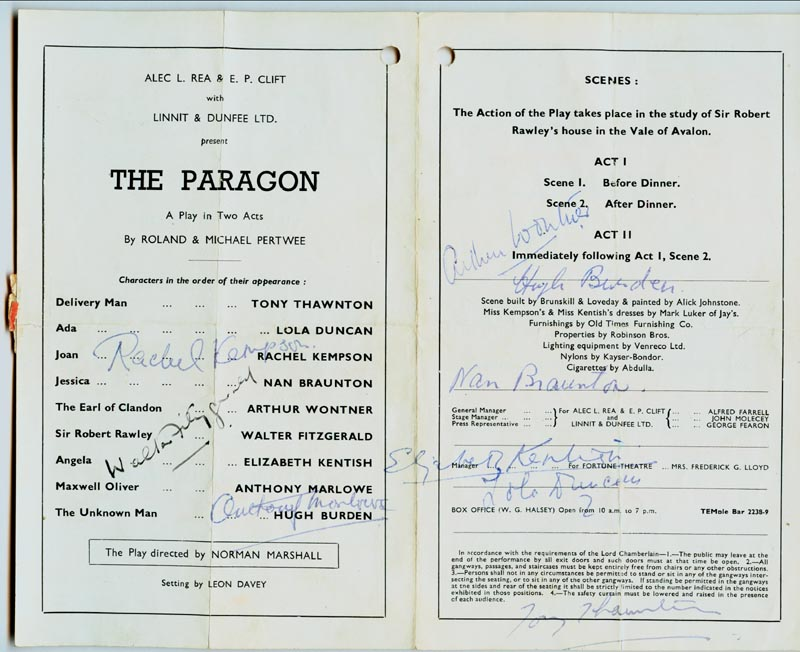 Image 1 for The Paragon Play Cast - Program Signed with co-signers - HFSID 153778
