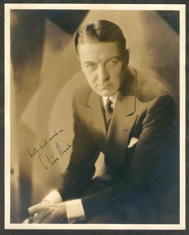 Image 1 for Clive Brook - Autographed Signed Photograph - HFSID 153795