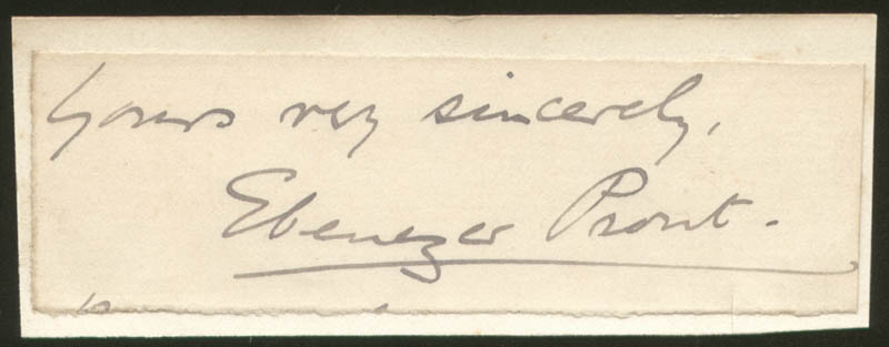 Image 1 for Ebenezer Prout - Autograph Sentiment Signed - HFSID 154271