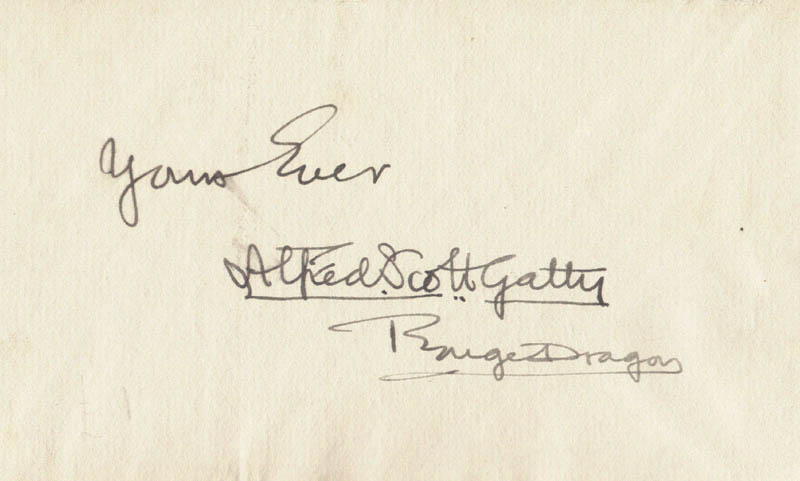 Image 1 for Sir Alfred Scott-gatty - Autograph Sentiment Signed - HFSID 154291
