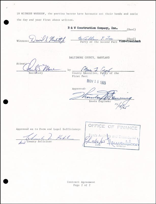 Image 1 for Vice President Spiro T. Agnew - Document Signed 11/18/1965 - HFSID 15434