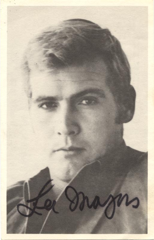 Lee Majors Picture Post Card Signed Autographs