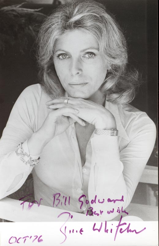 Image 1 for Billie Whitelaw - Autographed Inscribed Photograph 10/1976 - HFSID 154406