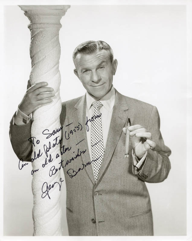 Image 1 for George Burns - Autographed Inscribed Photograph - HFSID 154586