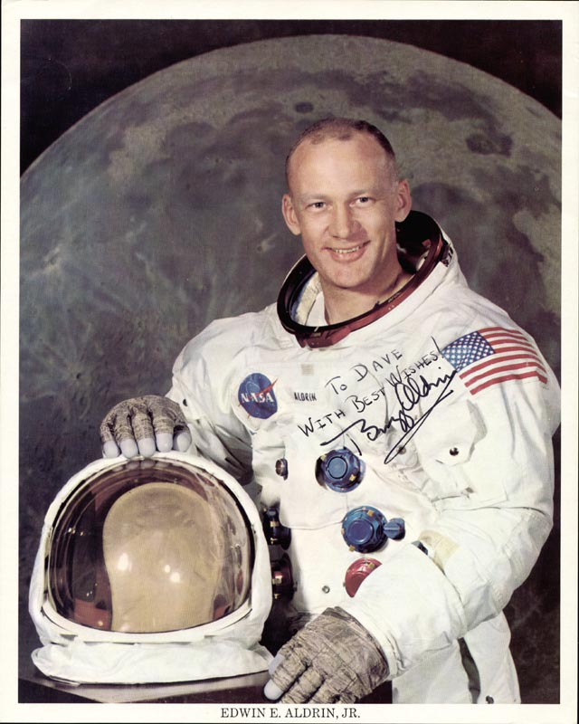 Image 1 for Colonel Buzz Aldrin - Autographed Inscribed Photograph - HFSID 154599